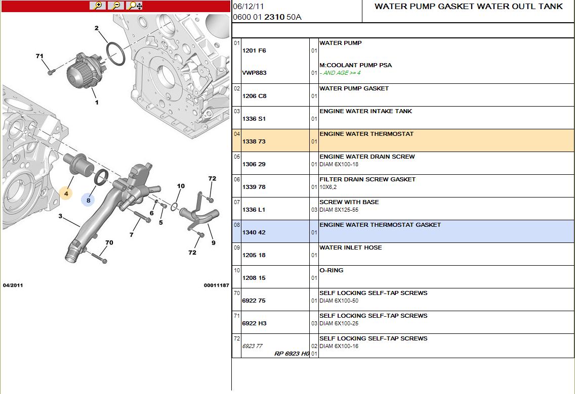 c5 v6 thermostat location french car forum. Black Bedroom Furniture Sets. Home Design Ideas