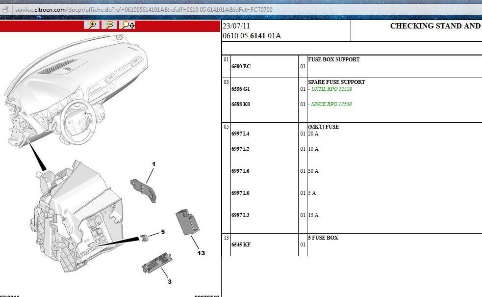 C5 X7 Fuse box B location - French Car Forum | Citroen C5 Fuse Box Faults |  | French Car Forum Car Stickers